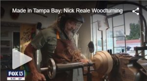 Fox 13 News - Made in Tampabay - NIck Reale Woodturning