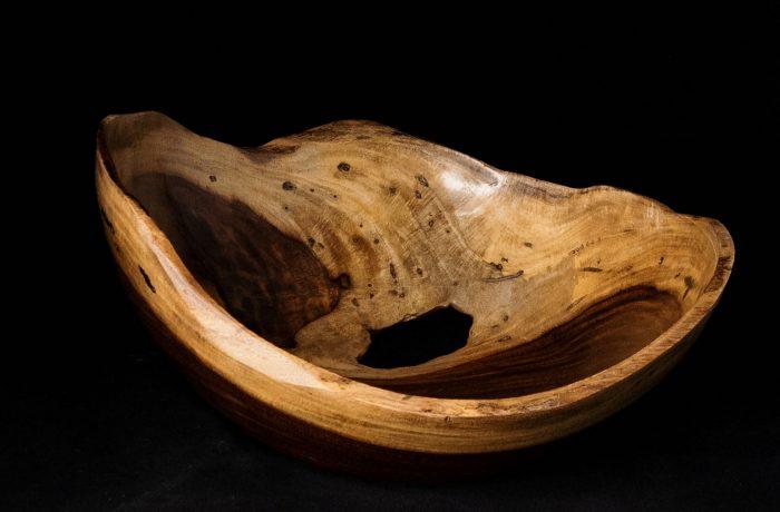 Natural Edge Rosewood Bowl