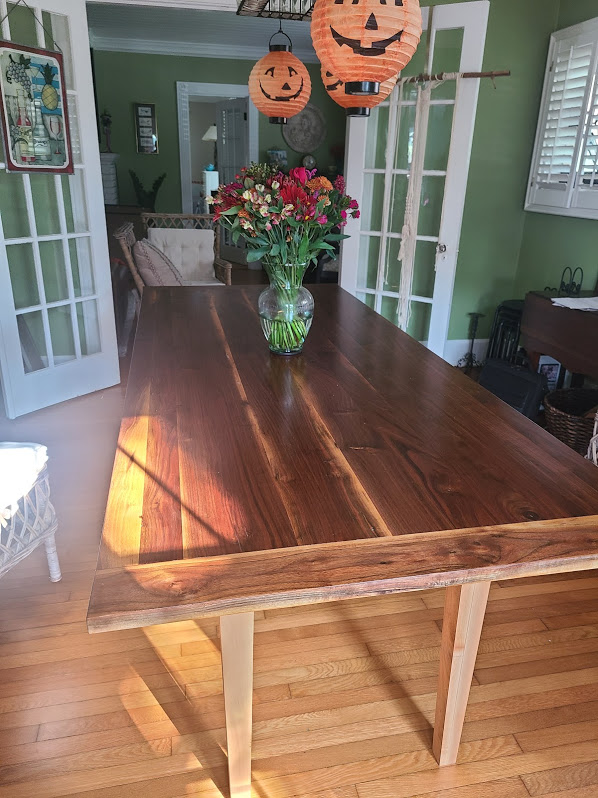 Walnut and Maple Dining Table